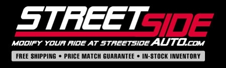 Street Side Auto is happy to sponsor Mopar1.us.  We�re pleased to support both automotive enthusiasts and outdoor sportsman with the best deals around on car parts & accessories from over 900 brand name vendors.  We have a huge inventory and an all-American team of parts geniuses with years of combined experience in the performance aftermarket.  With great customer support, a massive product selection, and the best deals in down, you can�t go wrong with Streetside Auto.