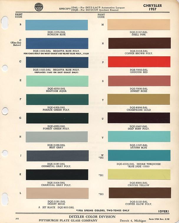 1969 mopar interior color codes